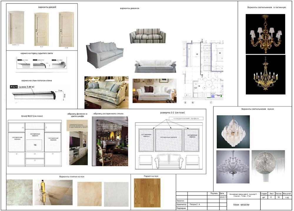 Подбор материалов для дизайн проекта