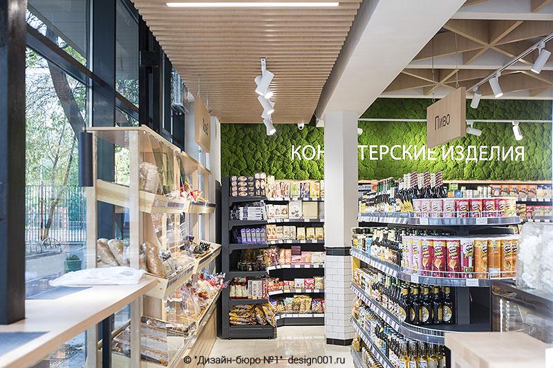 интерьер супермаркета, фото внутри