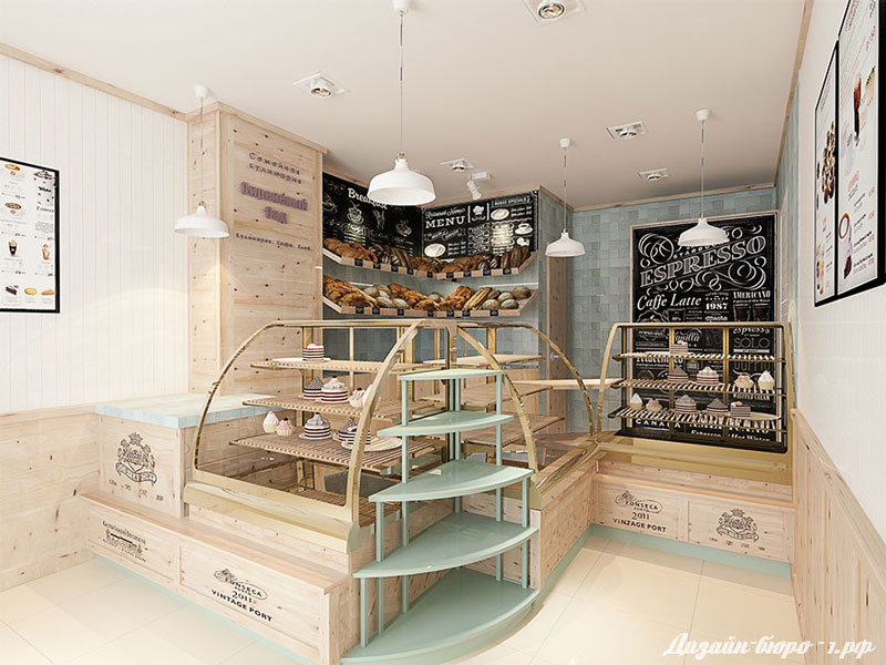 дизайн магазина кулинарии-кафе