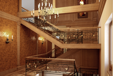 Лестница на 2 этаж. Новоглаголево