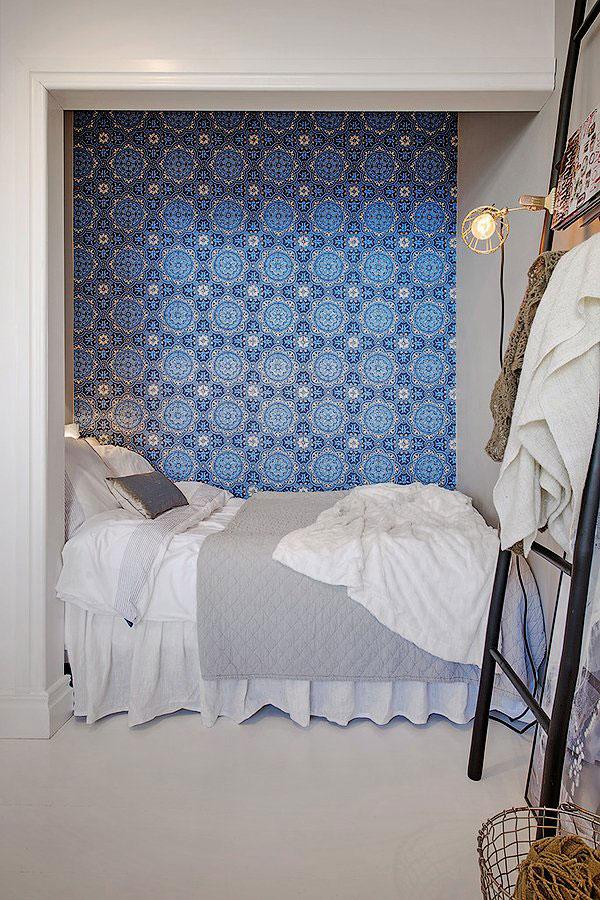 спальня стена обои