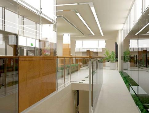 Дизайн интерьеров офиса операционного зала банка. 2000 кв.м. Москва