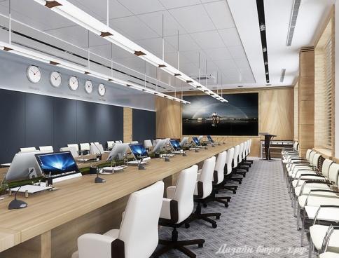 Дизайн офиса Объединенной Авиастроительной Корпорации. 100 кв.м. Москва
