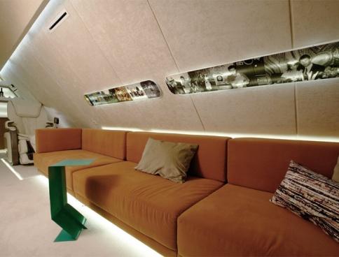 Дизайн мансарды в коттедже. 42 кв.м. Подмосковье