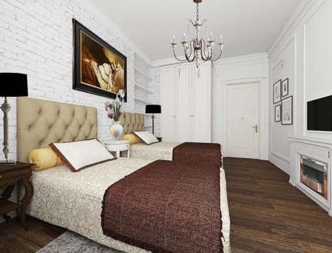 Дизайн-проект 3-х комнатной квартиры в сталинском доме. 70 кв.м. Москва