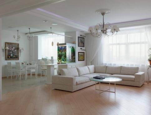 Дизайн 3-комнатной квартиры в ЖК «Шмидтовский 16». 140 кв.м. Москва. Фото