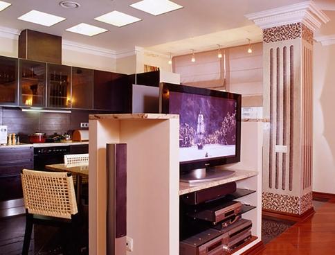 Дизайн интерьеров четырехкомнатной квартиры на Таганской. 200 кв.м. Москва.  Фото