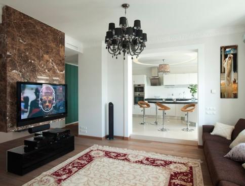 Дизайн интерьера 3-х комнатной квартиры в ЖК  «Триумф-палас». 158 кв.м. Москва. Фото
